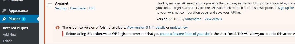 Upgrade WordPress Plugin